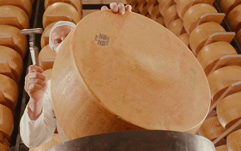 La battitura del Parmigiano Reggiano